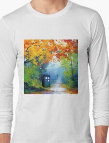 Tardis Oil Painting Long Sleeve T-Shirt