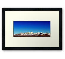 Organ Mountains Framed Print