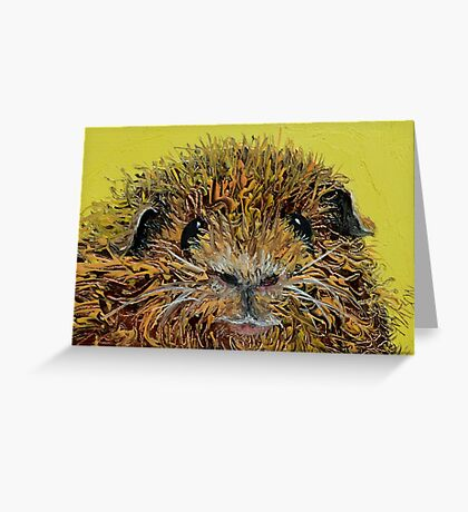 Guinea Pig painting Greeting Card