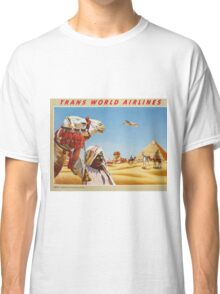 Sphinx and Pyramids of Egypt Vintage Travel Poster Classic T-Shirt