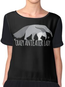 Crazy Anteater Lady  Chiffon Top