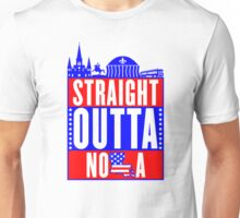 Red White & Blue Straight Outta NOLA Unisex T-Shirt