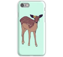 hipster fawn with sunflower crown iPhone Case/Skin