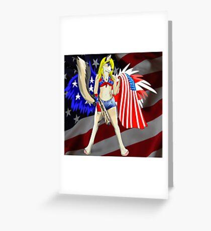 Patriotic furry Greeting Card