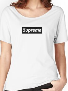 Supreme Black Women's Relaxed Fit T-Shirt