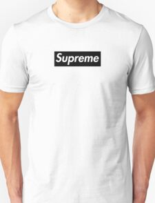 Supreme Black Unisex T-Shirt