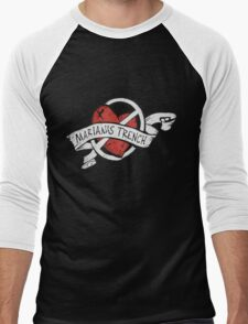 Marianas Trench Heart Logo Men's Baseball ¾ T-Shirt