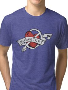 Marianas Trench Heart Logo Tri-blend T-Shirt