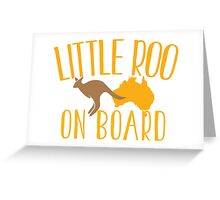 Little roo on Board (Australian pregnancy meternity design) Greeting Card