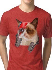 cat david bowie Tri-blend T-Shirt