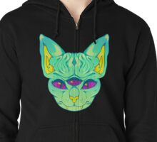 All Seeing Sphynx: B Zipped Hoodie