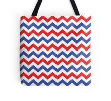 Red, White and Blue Chevron Pattern Tote Bag