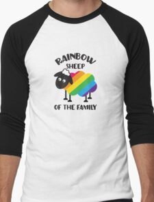 Rainbow Sheep Of The Family LGBT Pride Men's Baseball ¾ T-Shirt
