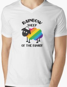 Rainbow Sheep Of The Family LGBT Pride Mens V-Neck T-Shirt