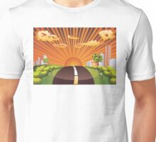 Green Field and City 2 Unisex T-Shirt
