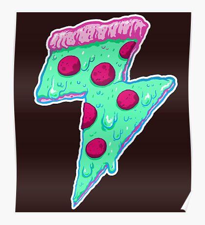 Thunder Neon Pizza Poster