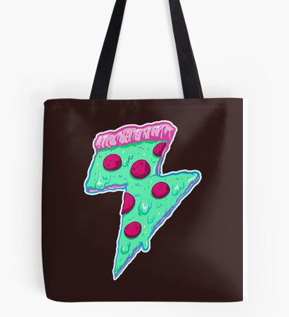 Thunder Neon Pizza Tote Bag