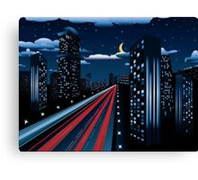 Night City Road 3 Canvas Print