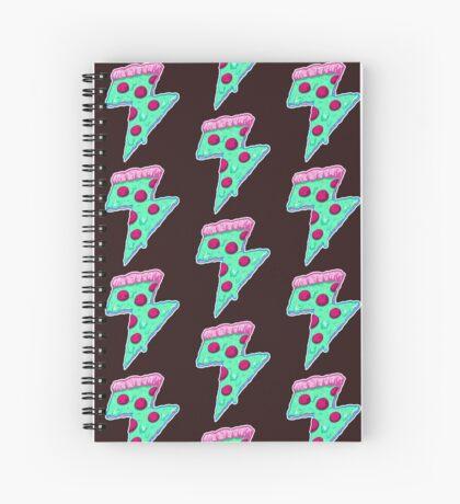 Thunder Neon Pizza Spiral Notebook