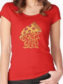 LOVE AT FIRST SLICE Women's Fitted Scoop T-Shirt