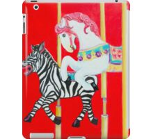 Horse and Zebra Carousel painting iPad Case/Skin
