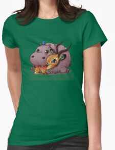 Hippo and Impala Womens Fitted T-Shirt