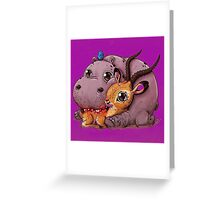 Hippo and Impala Greeting Card