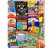 80s Totally Radical Breakfast Cereal Spectacular!!! iPad Case/Skin