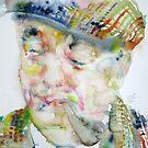 PABLO NERUDA - watercolor portrait.6 by lautir