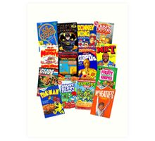 80s Totally Radical Breakfast Cereal Spectacular!!! Art Print