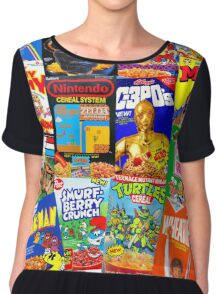 80s Totally Radical Breakfast Cereal Spectacular!!! Chiffon Top