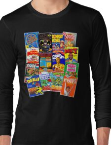 80s Totally Radical Breakfast Cereal Spectacular!!! Long Sleeve T-Shirt