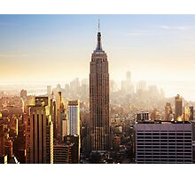 Empire State Building New York Manhattan Skyline Photographic Print