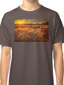 Field of Sunset and Grass Classic T-Shirt