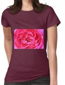 Pink roses in the garden. Womens Fitted T-Shirt