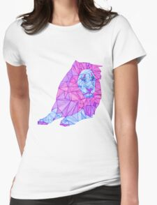 Purple Lined Lion Womens Fitted T-Shirt
