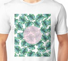Monstera + Pastel Pink #society6 #decor #buyart Unisex T-Shirt