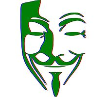 Single Fawkes PopArt Mask Photographic Print