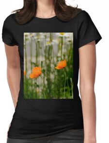 Field poppy  Womens Fitted T-Shirt