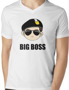 big boss Mens V-Neck T-Shirt