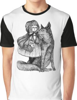 Little Red Riding Hood and the Wolf Graphic T-Shirt