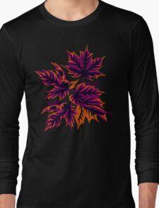 Leaves - Purple/Orange Long Sleeve T-Shirt