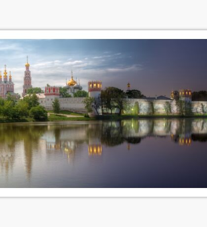 Day to night at Novodevichy convent Sticker