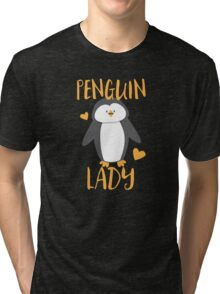 Penguin Lady Tri-blend T-Shirt