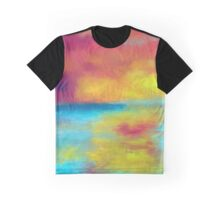 sunset waters abstract impressionist Graphic T-Shirt