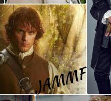Outlander/Jamie collage  Sticker
