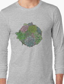 Let it Grow, Succulent Illustration Long Sleeve T-Shirt