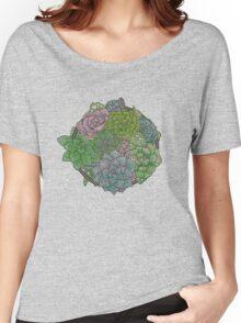 Let it Grow, Succulent Illustration Women's Relaxed Fit T-Shirt