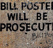 Bill Posters  Sticker