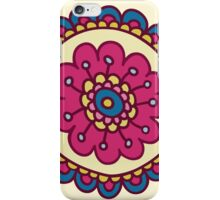 colorful doodle flower pattern iPhone Case/Skin